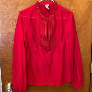 H&M conscious collection blouse size medium